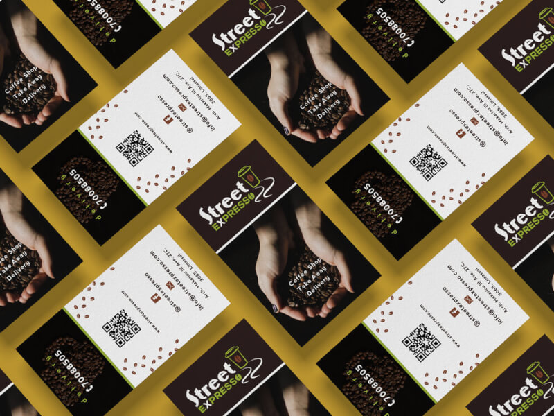 business Cards Coffee Company Design