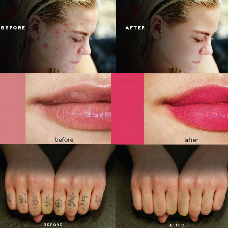 photo retouch before after