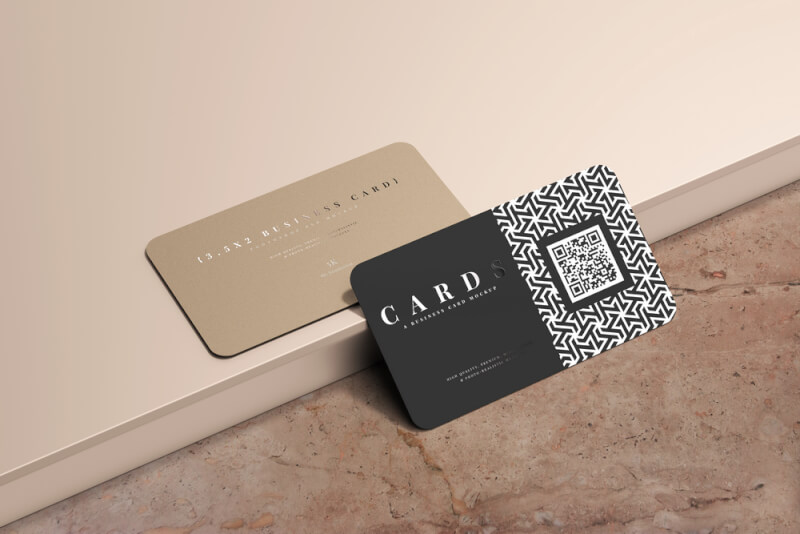 business card mockup3d